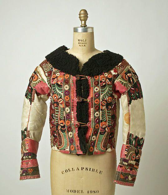 Jacket (ködmön) Date: late 1910s Culture: Hungarian Medium: leather, wool