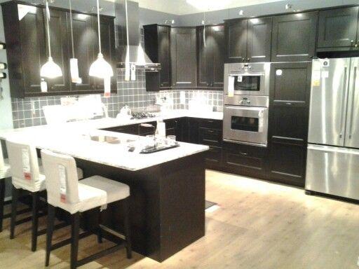Ikea Kitchen Cabinets Black 154 best kitchen remodels - mostly ikea images on pinterest