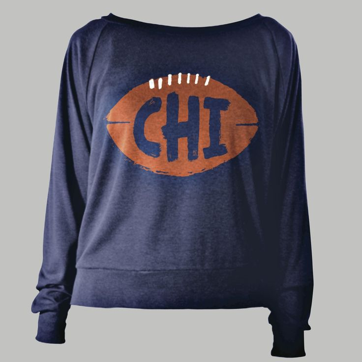 Chicago Bears CHI Football Women's Scoopneck Sweatshirt