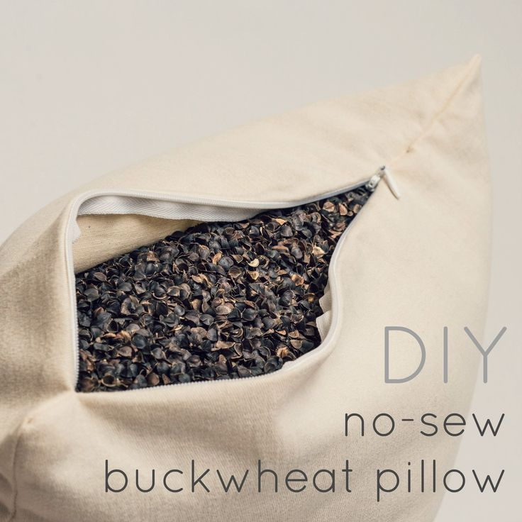 diy no-sew buckwheat hull pillow