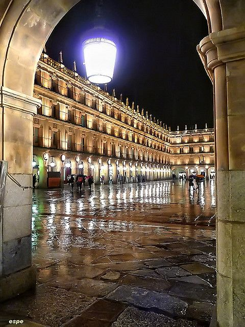 This is the Plaza Mayor in Salamanca, Spain. One of the oldest & most beautiful in Europe. Spent lots of time there while attending classes in Salamanca. Miss the awesome sangria & gelato.