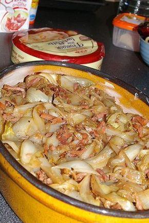 tartiflette_d_endives aux pommes de terre, lard,reblochon....