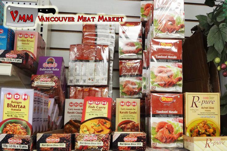 MDH Masala spices and Shan Tandoori Masala at Vancouver Meat Market