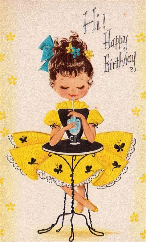 Открытки ретро ко дню рождения, открытки вальс