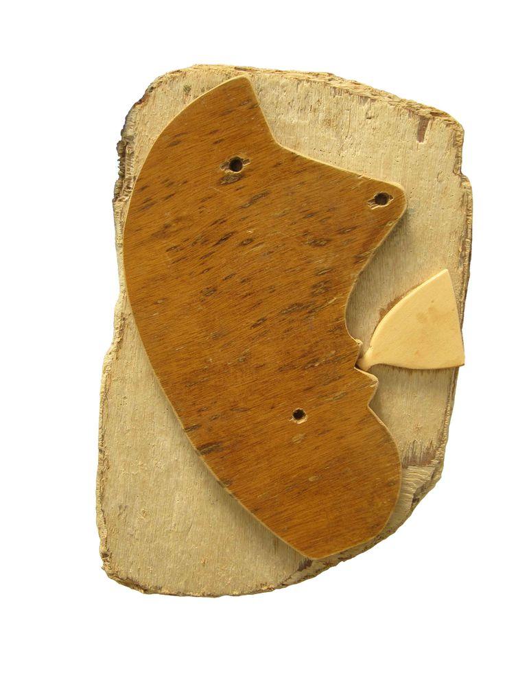 Fumetto  assembaggio con legni di scarto di Fabio Accardo Palumbo