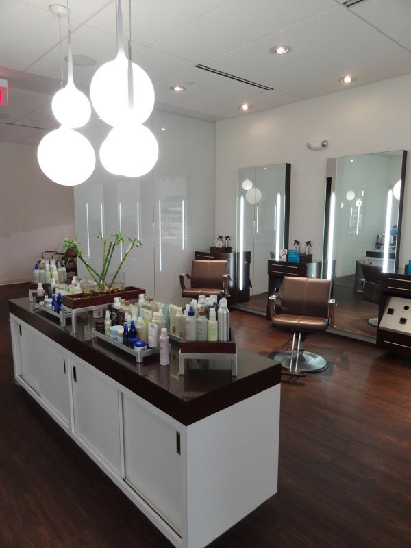 Salon Design with Equipment: Douglas J Salons by Leslie McGwire, via Behance