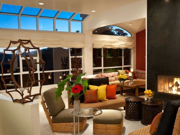 Pinterest - wohnzimmer orange rot