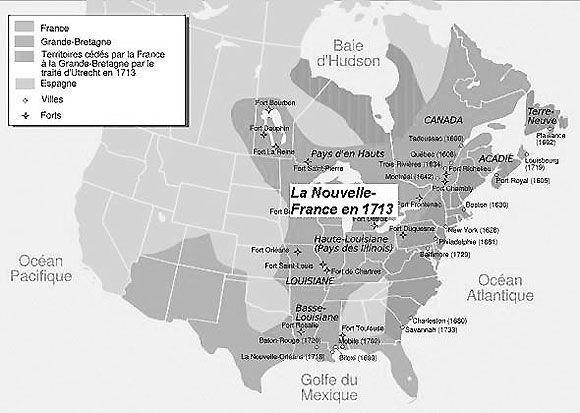 Au début du XVIIIe siècle, la France atteint son apogée en Amérique. On a de la peine aujourd'hui à imaginer l'immensité de la Nouvelle-France au milieu du XVIIIe siècle.