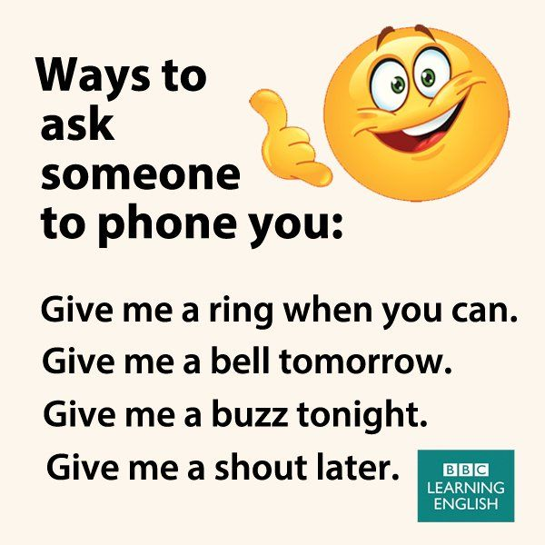 Ways to ask someone to phone you
