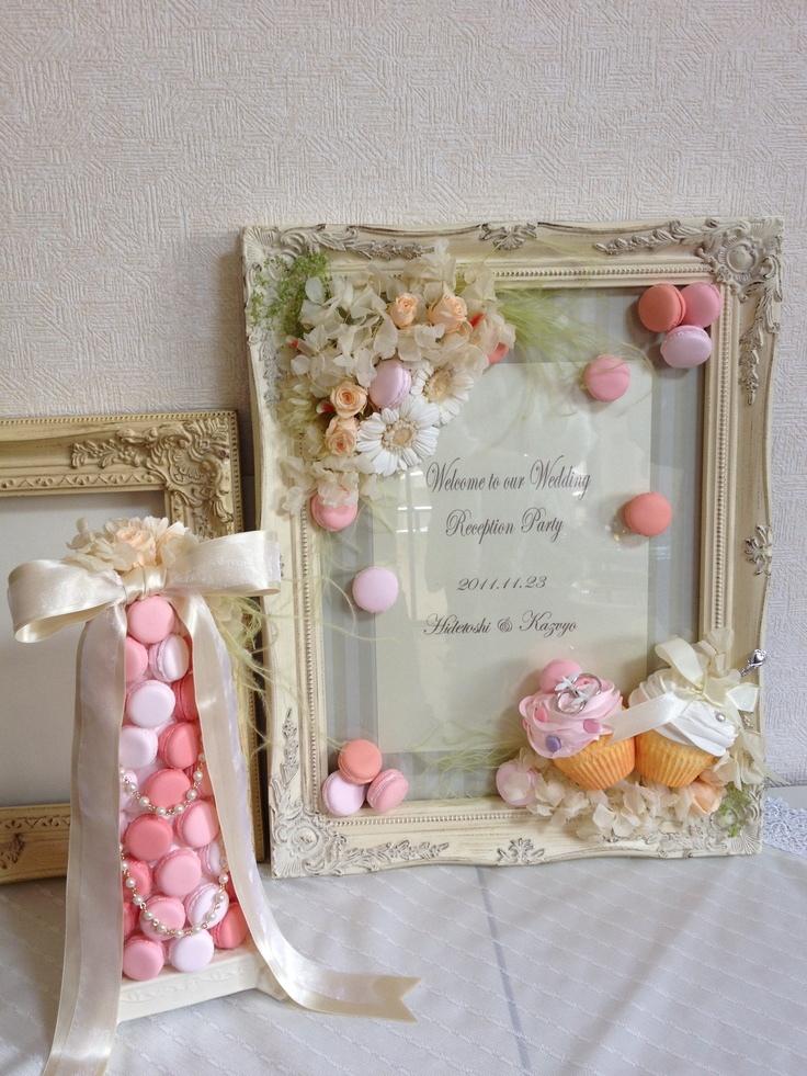 Dolce Deco Wedding, welcome board, macaron tower