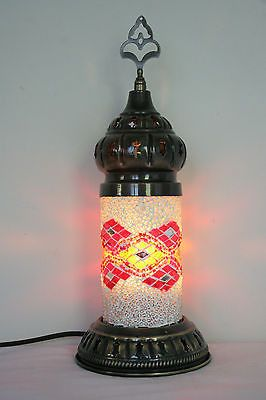 TURKISH OTTOMAN MOROCCAN STYLE MOSAIC TABLE TOP LAMP BED SIDE NIGHT LIGHT
