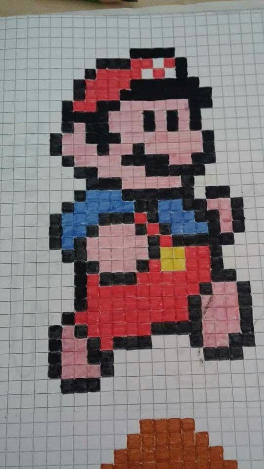 Super Mario Auf Karo Super Mario Zeichnen Und Mario