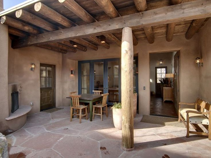 871 best old santa fe style images on pinterest for Modern adobe houses