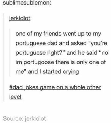 Tumblr, dad jokes