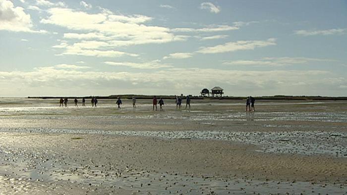 O mar de Wadden ou mar Frísio (Wattenmeer em alemão)