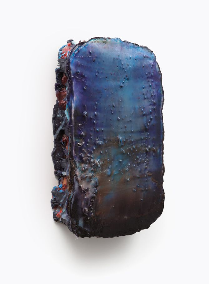 Lev Khesin, Ligula; 2009, Silicone and pigments, 38,5x25,6x6,5cm