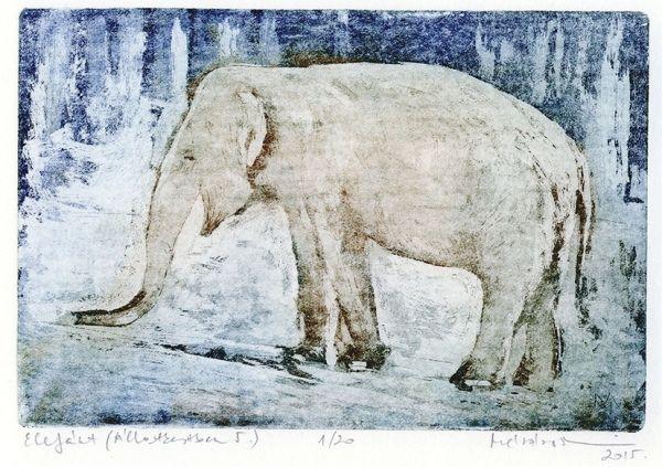 Mészáros Marianna: Elefánt - Állatok - Grafikák - Webáruház - Művészi ajándék - Cultural Gifts - Kecskemét, Magyarország