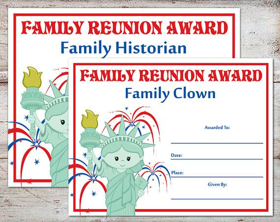 Family Reunion Awards, Family Reunion Certificates, Family Reunion, Family Parties, Family Awards, Certificates, INSTANT DOWNLOAD