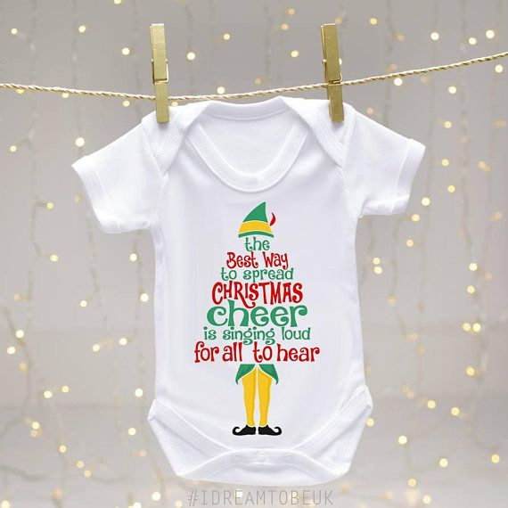 Christmas Cheer Elf body suit  Christmas Baby vest Buddy the