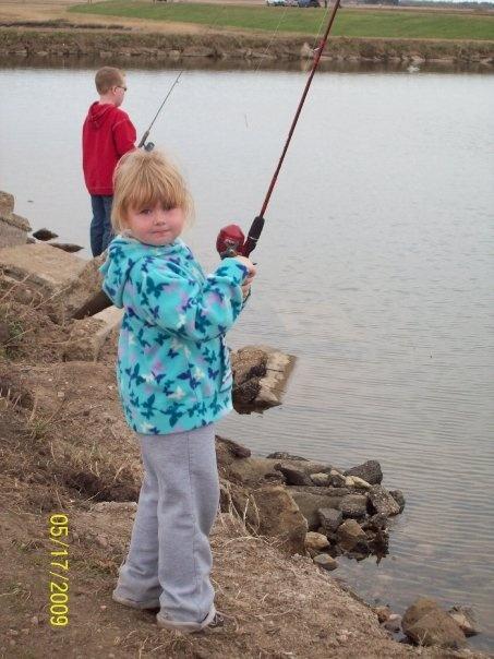 Fishing at the Vegreville Reservoir