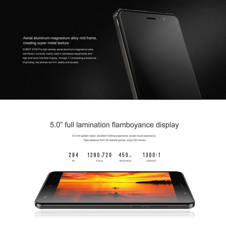 """CUBOT Z100 PRO 4G 5.0"""" HD IPS Smartphone MTK6735 Quad Core Android 5.1 Cellphone 3GB+16GB 8MP 2450mAh"""