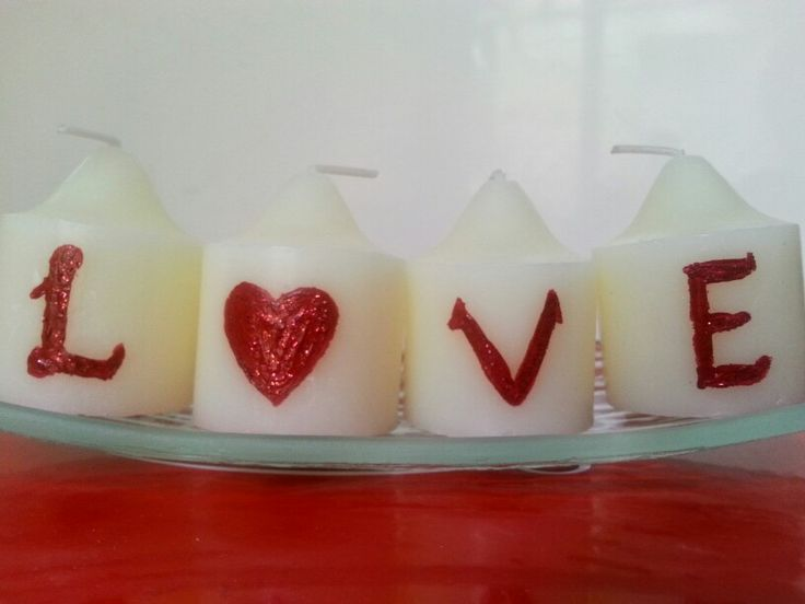 Hand Painted Votive Candles