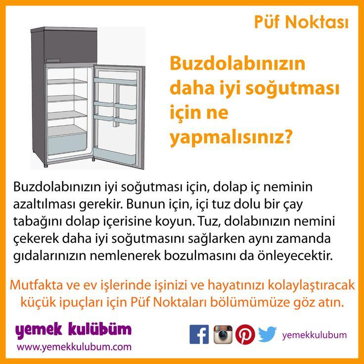 MUTFAKTA İŞİNİZİ KOLAYLAŞTIRACAK PÜF NOKTALARI : Buzdolabının daha iyi soğutması için... http://yemekkulubum.com/puf-noktasi-liste/mutfakta-genel-puf-noktalari #evişi #mutfakişleri #evişleri #mutfak #pratikbilgiler #pratik #ipucu #ipuçları #buzdolabı #temizlik