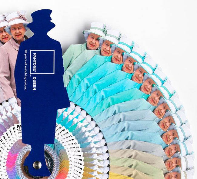 Pantone Queen by Leo Burnett London  Plenty of colour
