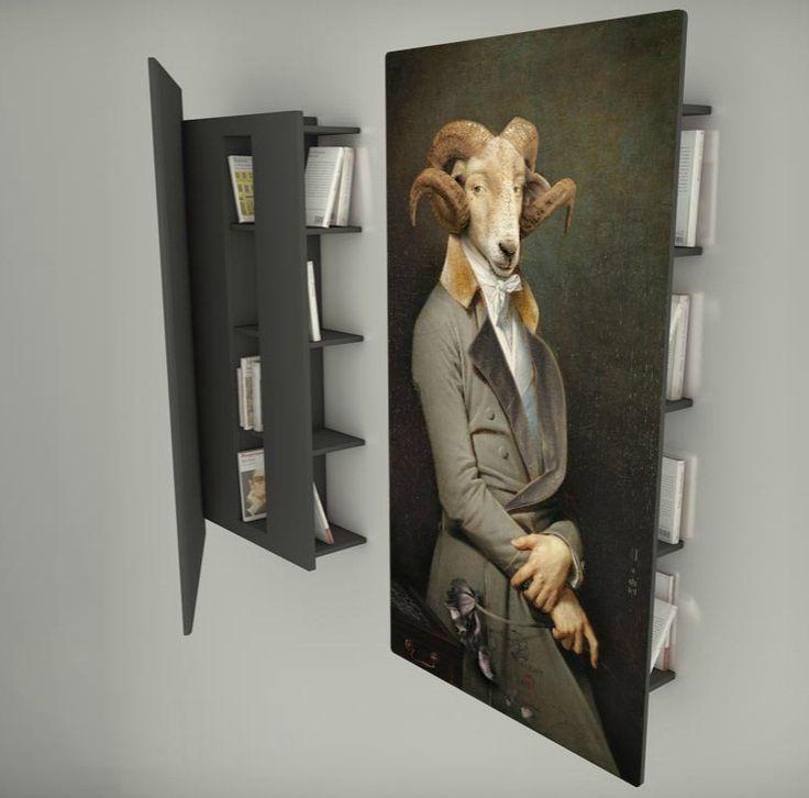 Les Dandys 'bookcase' by Ibride.