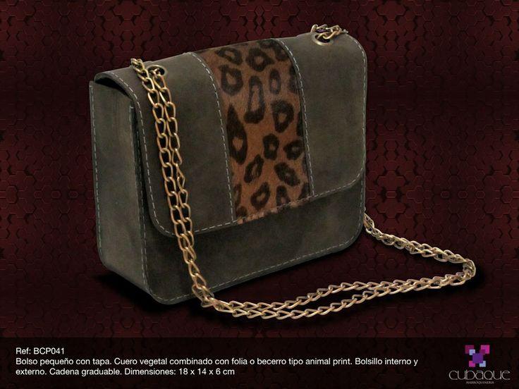Bolso pequeño con piel de becerro #handmade #bags #accesorios #hechoamano #leather #cuero #bolsos