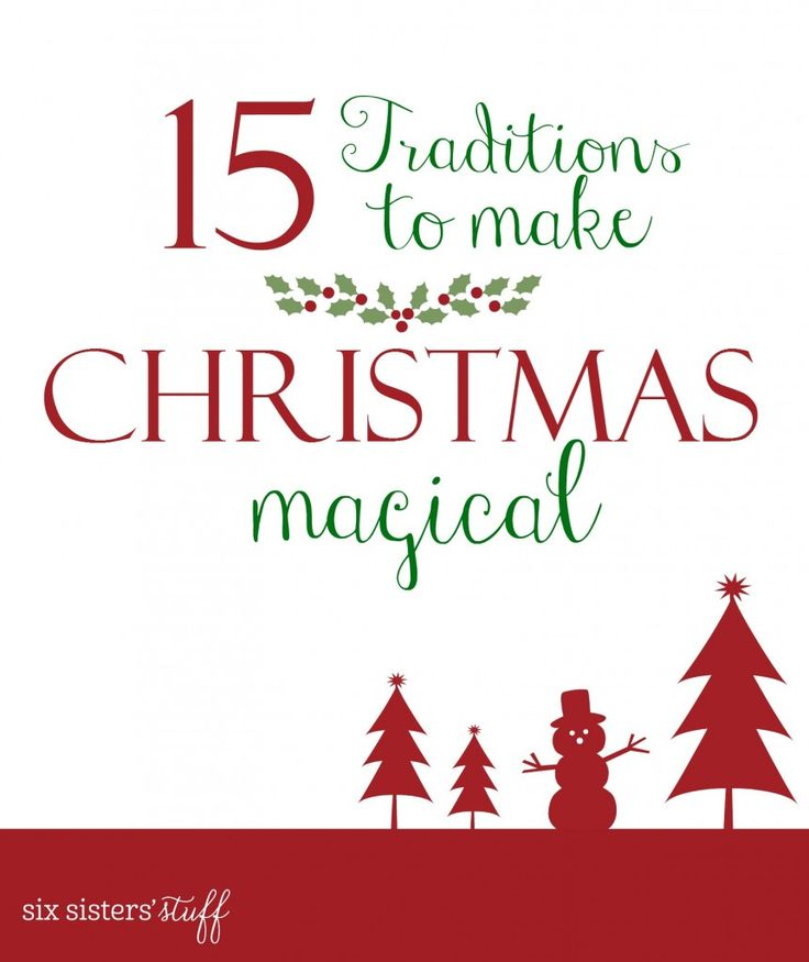 15 Traditions to make Christmas magical | Growing up, the holidays were full of wonderful traditions and a lot of sweet treats. We're sharing a few things that we grew up with that made Christmas magical. These are traditions we've carried on for years and enjoy with our own children and families now.