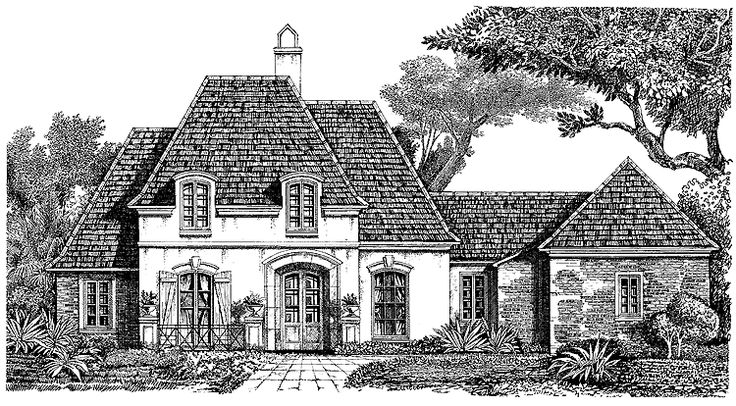 Norman house plan with 2678 square feet and 4 bedrooms for Family code 7822