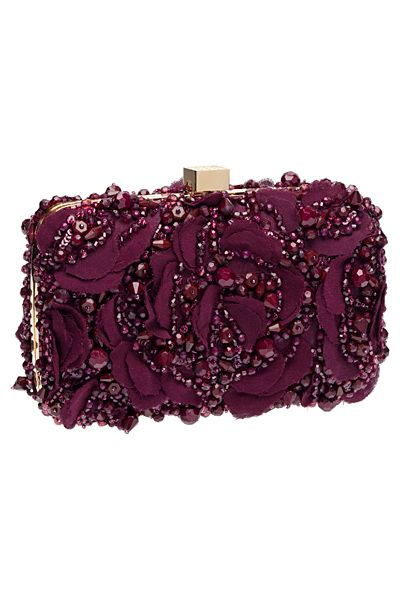 Glamorous Evening Clutch in Marsala / Elie Saab - Accessories - 2014 Fall-Winter
