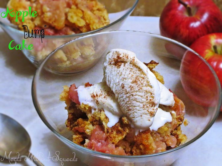 """meals without squeals: 3 Ingredient Apple """"Dump"""" Cake"""