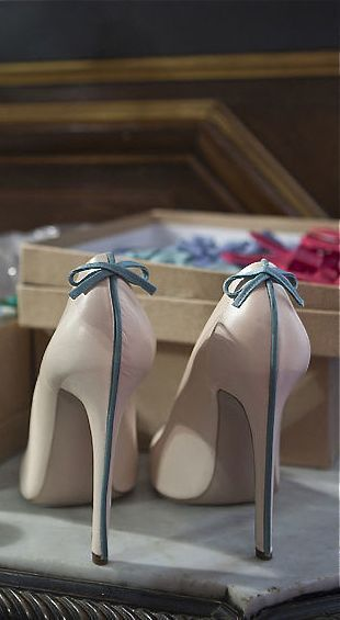 Pretty Wedding Heels ~ Something Blue