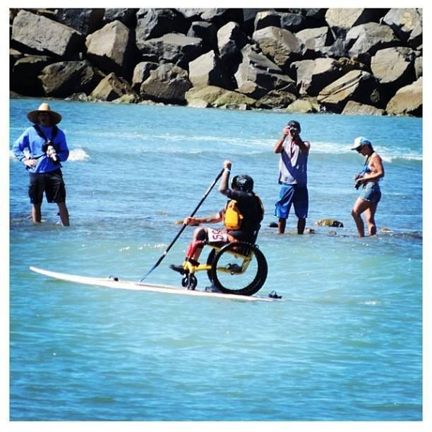 Rainbow Sandals BOP Wheelchair Paddler   Top Stand Up Paddleboarding Photos of the Day. #joyofsport