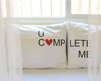 40+ DIY Valentine Gift Ideas for Boyfriend & Husbands - Iron on Pillow Case Transfers - DIY Valentines Gifts for Him
