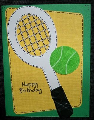 26 best tennis cards images on pinterest tennis mens birthday my nephew loves tennis so i made him a tennis birthday card i am also submitting this for emmas throwback thursday challenge since it i m4hsunfo Choice Image