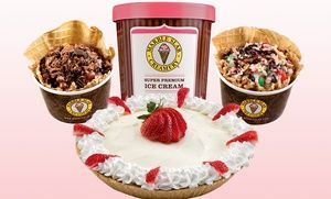 Groupon - Ice Cream or 8-Inch Ice-Cream Cake at Marble Slab Creamery (Up to 50% Off) in Crossroads Shopping Center. Groupon deal price: $12