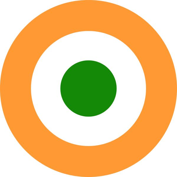 The Indian Air Force roundel.