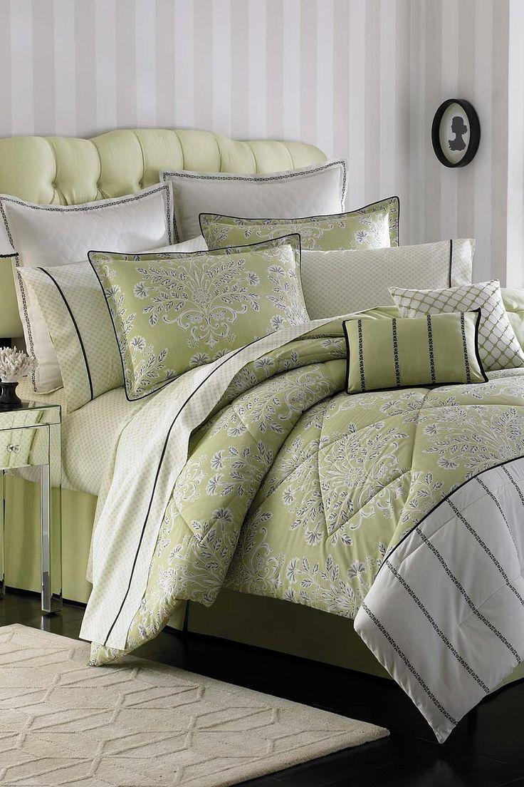 Laura Ashley Bedding Holbeck Comforter Set Green Comforters Bed Comforter Sets Comforter