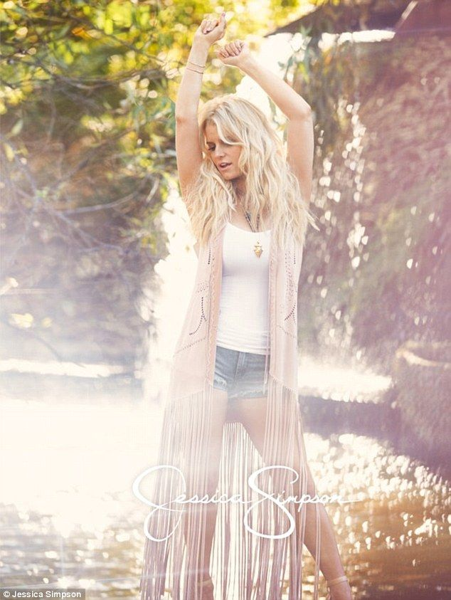 Her own best advertisement: Jessica Simpson is back in her Daisy Dukes as she shows off he...