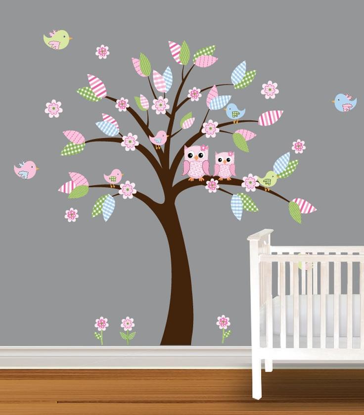 Tree Decal Childrens Nursery Decal Daisy Owl Wall by NurseryDecals, $99.99