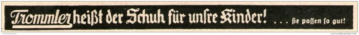 Original-Werbung/ Anzeige 1941 - TROMMLER KINDER - SCHUHE - ca. 130 x 10 mm