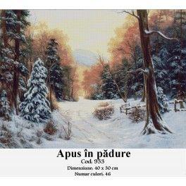 Set goblen - Apus in padure