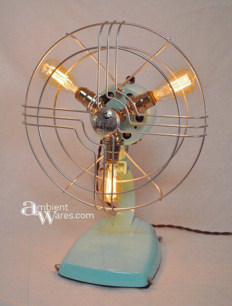 refurbished mid century fan turned lamp, diy, home decor, lighting