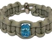 Beaded Series - Silver Adjustable Paracord Bracelet