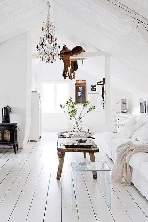 white livingroom, white floor
