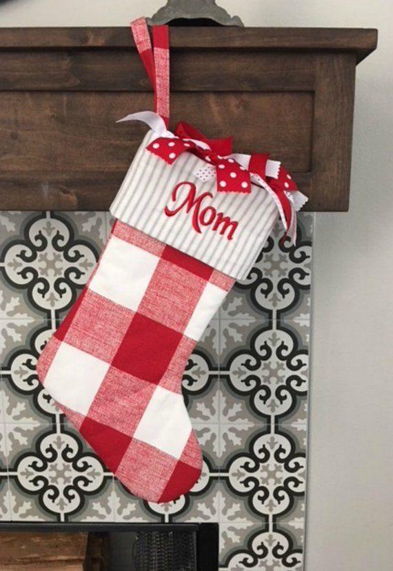 869e4a18551 Farmhouse Christmas Stocking