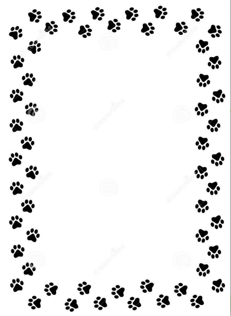 Cat paw clipart hd dog paw border clipart cats wallpaper hd image val 39 s pals german shepherd - Paw print wall border ...